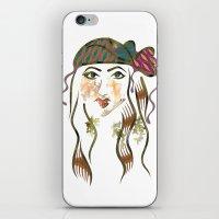 beth hoeckel iPhone & iPod Skins featuring 'Hanna-Beth' Illustration by Suki Sabur
