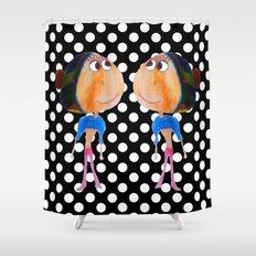 Twins dot girls Shower Curtain
