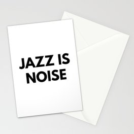 Jazz Is Noise Stationery Cards