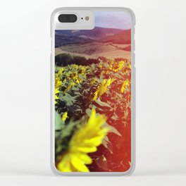 Sea of Sunflowers Clear iPhone Case