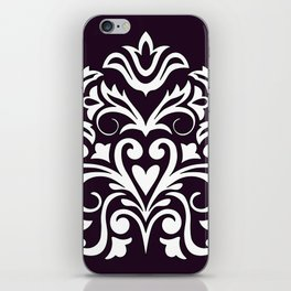 white damask composition1 iPhone Skin