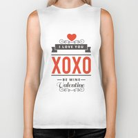 valentines Biker Tanks featuring Valentines Day by cat&wolf