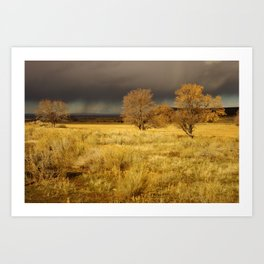 Storm Incoming Art Print