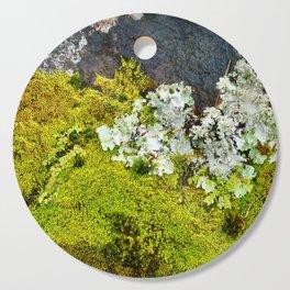 Tree Bark with Lichen#8 Cutting Board