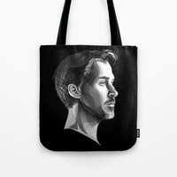 ryan gosling Tote Bags featuring Ryan Gosling by anomaly alice