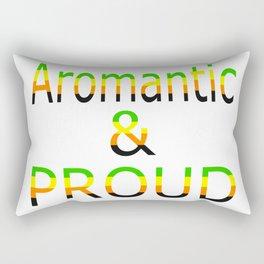 Aromantic and Proud (white bg) Rectangular Pillow
