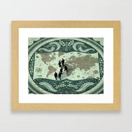 The Act of Globalization  Framed Art Print