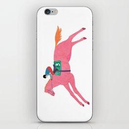 The fastest pink horse run iPhone Skin