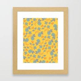 bright floral pattern Framed Art Print