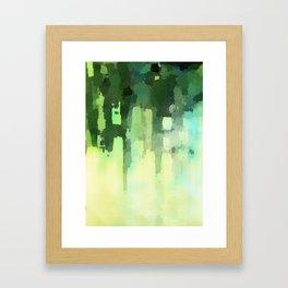 Green Ink Framed Art Print