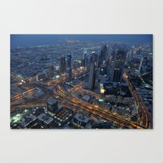 Dubai in the evening Canvas Print