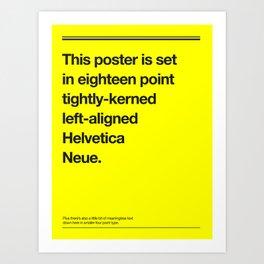 Helveticliche Art Print