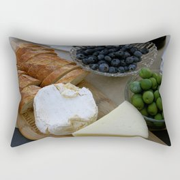 Bread & Cheese Tray Appetizer Rectangular Pillow
