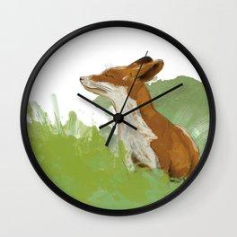 Sunning Fox Wall Clock