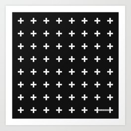 White Plus on Black /// Black n' White Series Art Print