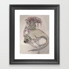Clown Queen Framed Art Print