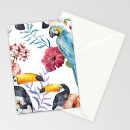 Tropical Bird Pattern 01 Stationery Cards