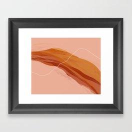 Midwest September Sunset Framed Art Print