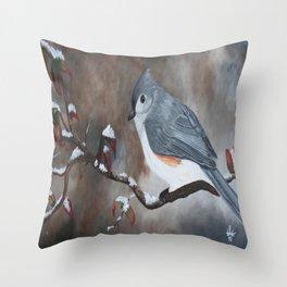 A Tuft Winter Throw Pillow