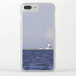 Lighthouse at Dungeness Spit Clear iPhone Case
