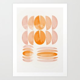 Orange Splits Art Print
