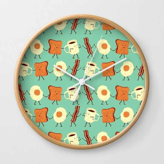 Let's All Go And Have Breakfast Wall Clock