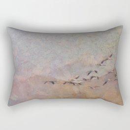 Flamingos Migration Rectangular Pillow