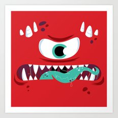 Baddest Red Monster! Art Print