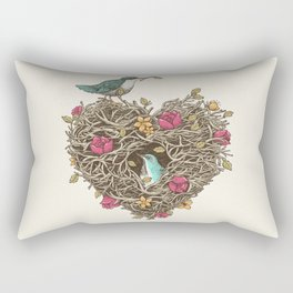 Home is where the heart is Rectangular Pillow