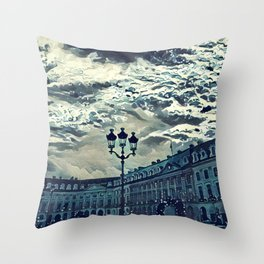 Place paris estampe Throw Pillow