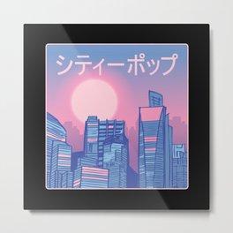 Vaporwave City Metal Print