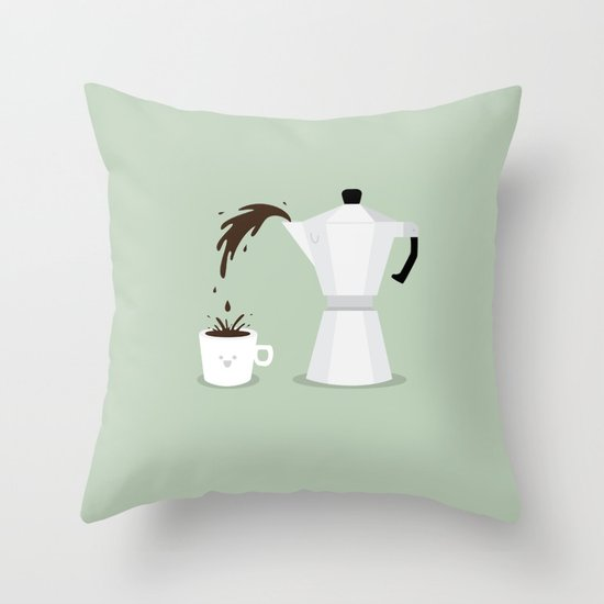 Espresso Time! Throw Pillow