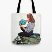 turquoise Tote Bags featuring TURQUOISE by Beth Hoeckel