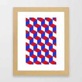 Red, White & Blue - Squared Framed Art Print