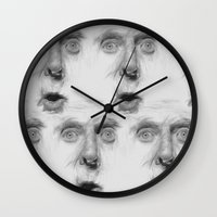 fear Wall Clocks featuring fear by Dimitris Evagelou