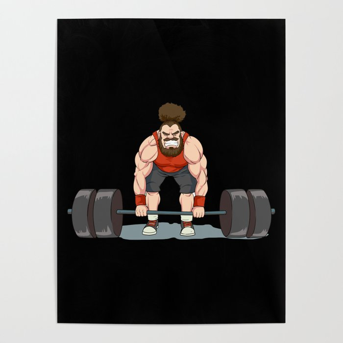 Weightlifting | Fitness Workout Poster by anziehend