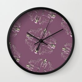Bat Skeleton Mandala Wall Clock