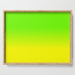 Neon Green and Neon Yellow Ombré  Shade Color Fade Serving Tray