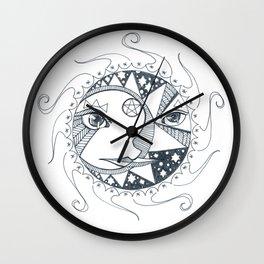 Moon, Sun, and Stars Wall Clock
