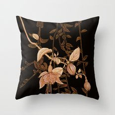 golden botanics Throw Pillow