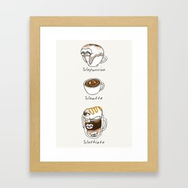 Slow Life Coffee Framed Art Print