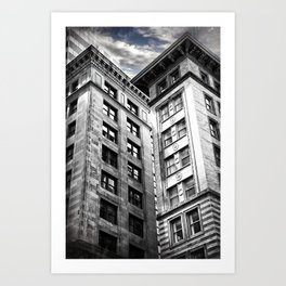 Boston [Sky cut 413] Massachussets, Usa Art Print