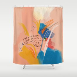 Find Joy. The Abstract Colorful Florals Shower Curtain