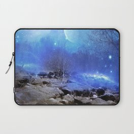 Fantasy Landscape, Moon Stars Laptop Sleeve