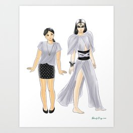 Fashion Journal: Day 9 Art Print