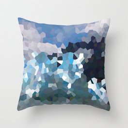 Cubistic icebergs Throw Pillow
