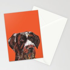 Hunting dog, printed from an original painting by Jiri Bures Stationery Cards