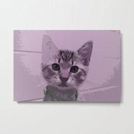 The Purple Kitten Metal Print