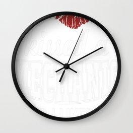I kissed a MECHANIC Wall Clock