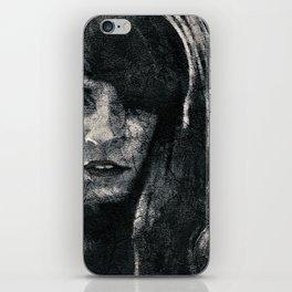 Creepy Artistic Woman Portrait iPhone Skin